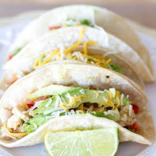 {Crockpot} Salsa Verde Honey Lime Chicken Tacos.