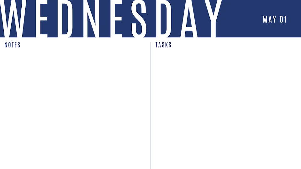 Bold Daily - Calendar Template