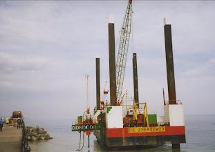 Photo: Marine Drive re-enforcements 2006.