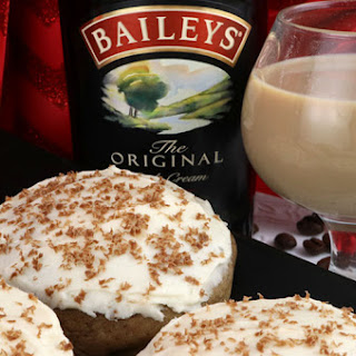 Coffee Cookies with Baileys Frosting.