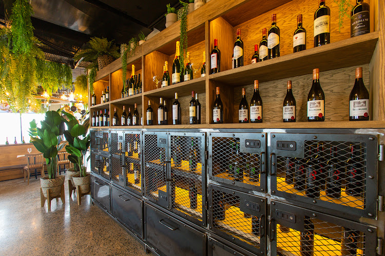 Wine selection at The Baron, Umhlanga Arch.