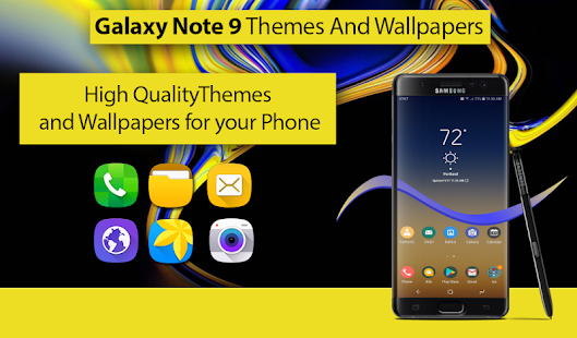 Theme For Samsung Galaxy Note 9 Wallpaper Note 9 Apps On Google Play