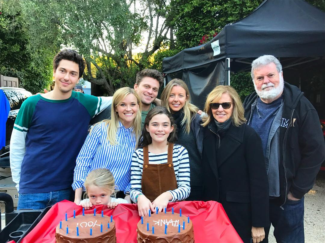 home again movie kitchen. reese with nancy and hallie two of the younger men who star in movie. little girls play alice\u0027s daughters. gentleman on right is home again movie kitchen e
