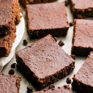 Practically Flourless Extra Fudgy Brownies.