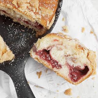 Strawberry Streusel Skillet Sweet Bread.