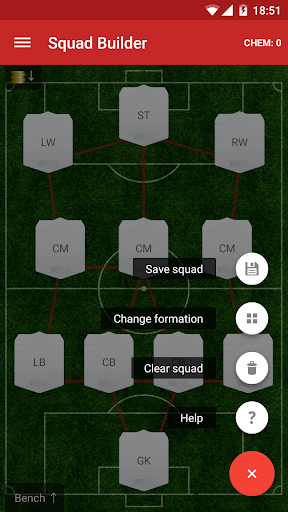 WeFUT - FUT 18 Draft, Squad Builder & Database screenshot