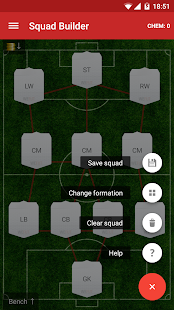 WeFUT - FUT 18 Draft, Squad Builder & Database - náhled