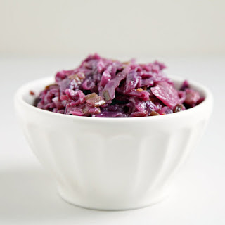 Red Cabbage Braised With Maple and Ginger.