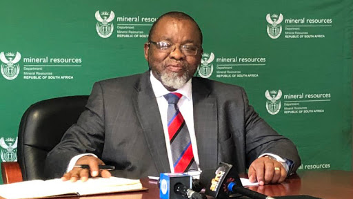Energy and mineral resources minister Gwede Mantashe.