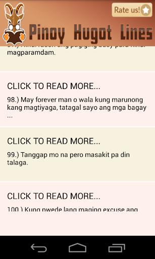 Pinoy Hugot Lines