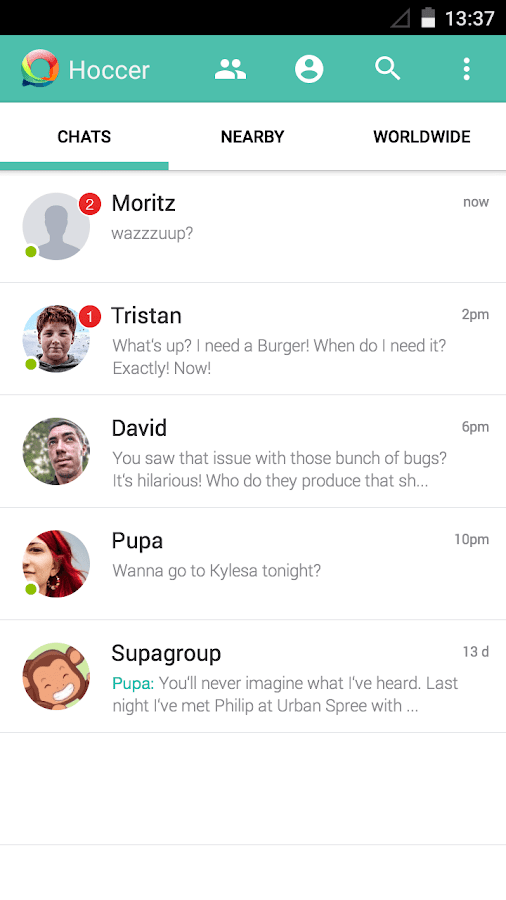 Hoccer – the secure Messenger- screenshot