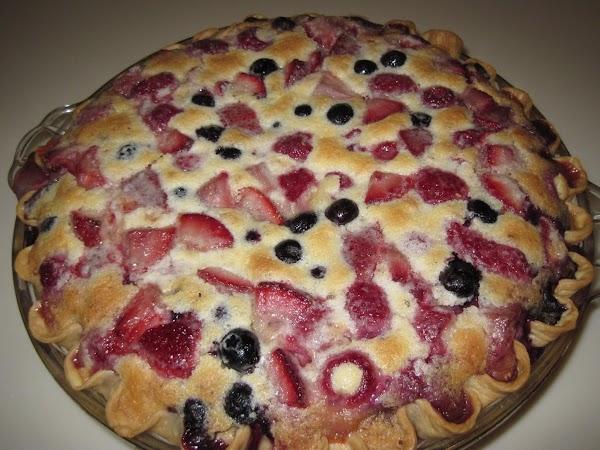 Strawberry, Raspberry And Blueberry Custard Pie Recipe