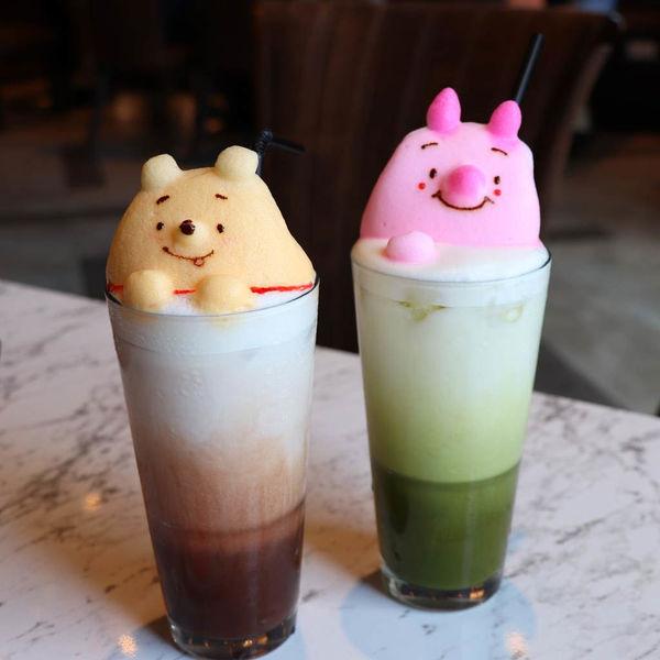 維尼控看過來,Good Partner好夥伴咖啡,超療癒超可愛小熊維尼爆乳蛋糕,維尼小豬造型立體拉花,和食也不錯吃!