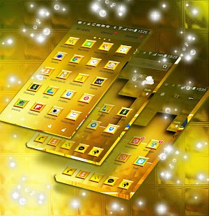 Launcher Theme Gold - náhled