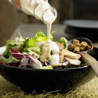 Green Salad with Chicken Strips.