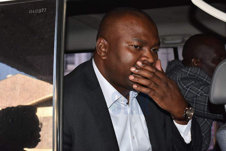 Former Sports CS Rashid Echesa at JKIA court on Friday, February 14, 2020.