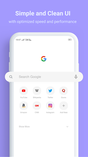 Turbo Browser - Super Fast and Secure Browser 2.4 screenshots 1