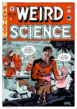 Photo: WEIRD SCIENCE #32 COVER. 2013. Ink on bristol board with digital color, 13 × 19″.