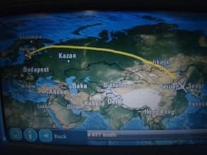 Photo: Flugroute über Russland
