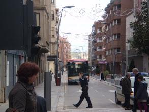 Photo: Llegada del autobús a la Puerta Munillo