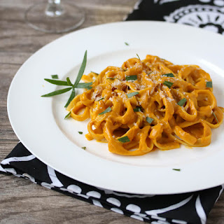 Roasted Sweet Potato Fettuccine Alfredo