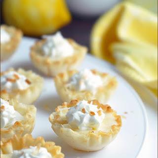 Mini Lemon Tarts with Toasted Coconut