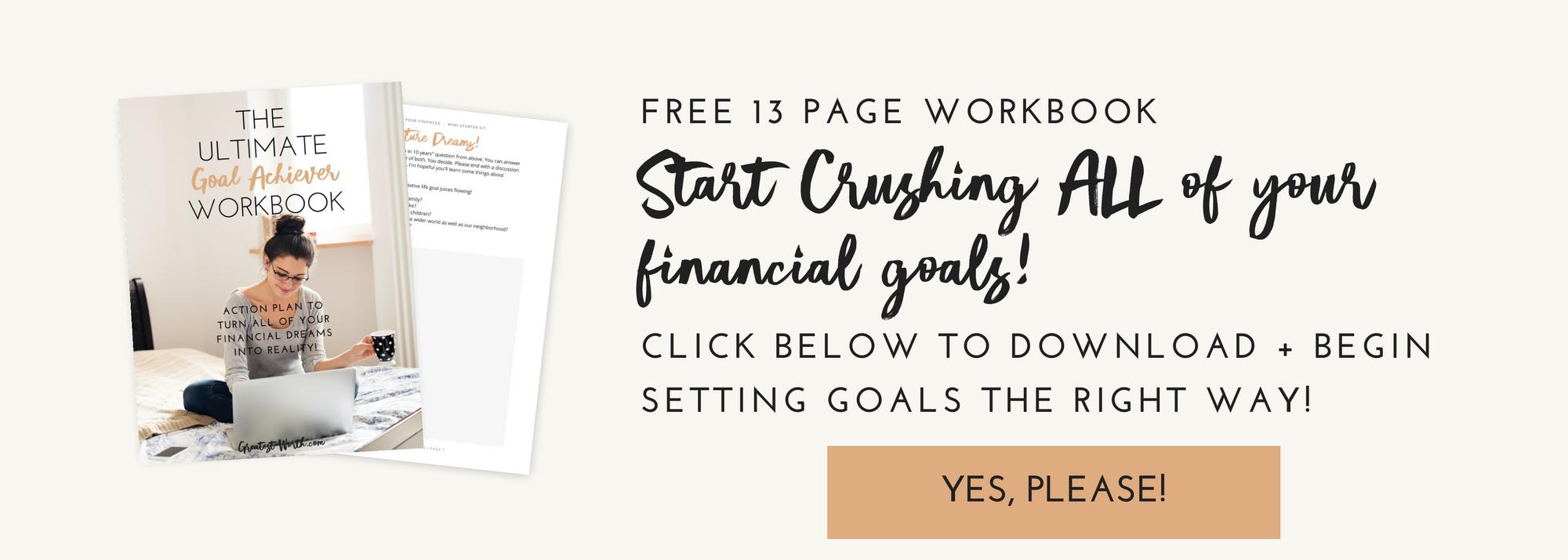 Workbooks goals workbook : 5 Steps to Sure Fire Financial Goal Setting | FREE Workbook ...