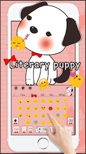 Literary Puppy Keyboard - náhled