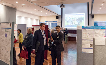 Photo: Euan Wallace and Harshal Nandurkar at the Young Investigator poster competition. http://www.med.monash.edu.au/cecs/events/2015-tr-symposium.html