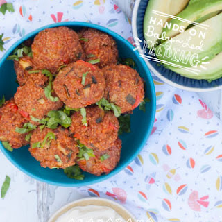 Baby Led Weaning Mexican Quinoa Bites Recipe