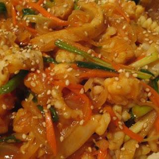 Seafood Stir Fry With Sunchang Gochujang