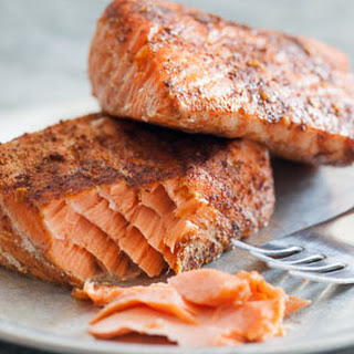 Simplest Roasted Rubbed Salmon.