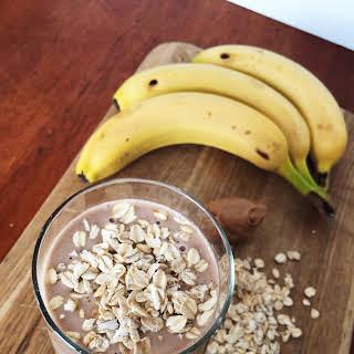 Chocolate Peanut Butter Breakfast Smoothie.