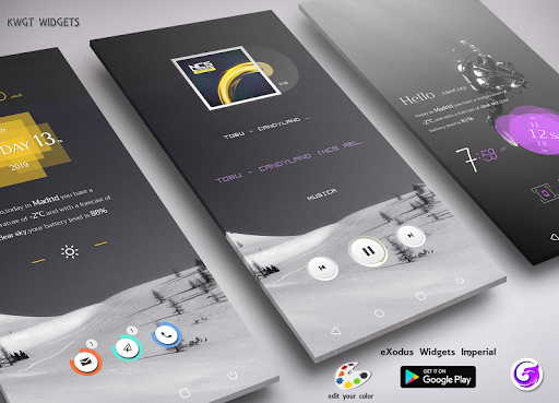 eXodus Imperial KWGT by Klwp Developers Team (Google Play