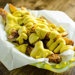 No Guilt Cheesy Fries - Vegan and Gluten Free.