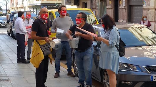 Los hosteleros 'hacen ruido' para que se escuchen sus demandas