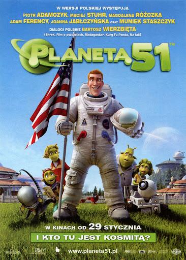 Przód ulotki filmu 'Planeta 51'