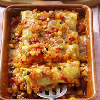 Stuffed Cannelloni with Sauce.