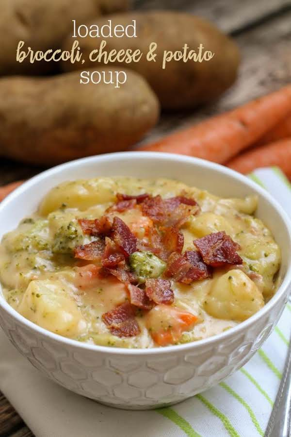 Loaded Broccoli And Cheese Soup