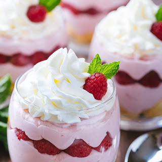 Raspberry Mousse Cups.