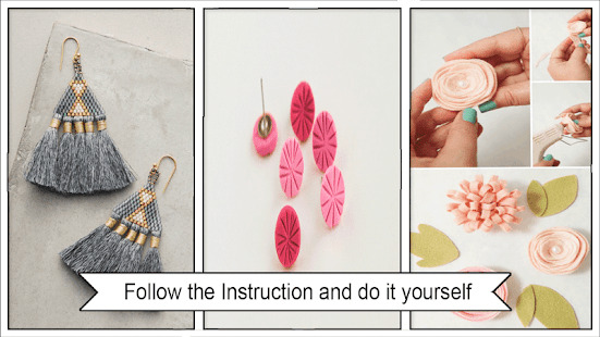 Beauty DIY Floral Earrings Step by Step - náhled