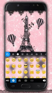 Sexy Black Lace Paris Keyboard Theme - náhled