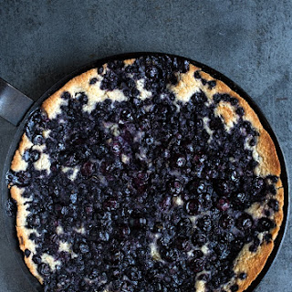 Blueberry Skillet Cobbler