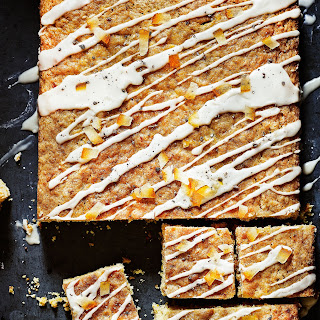 Orange And Cardamom Traybake.