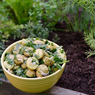 Herb Garden Potatoes with Fresh Spinach & Lemon