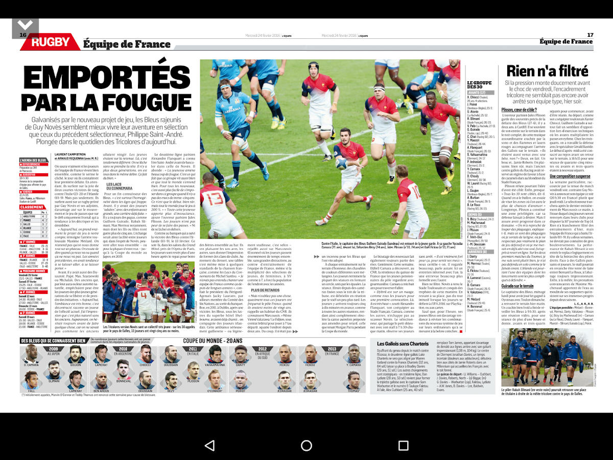 Le journal L'Equipe- screenshot