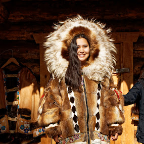Athabascan/Inuit Princess by Rev Marc Baisden - People Fashion ( travel adventure, alaska, traditional, education, native winter gear, heritage,  )
