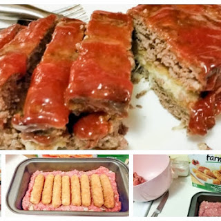 Delicious Mozzarella Stuffed Meatloaf.