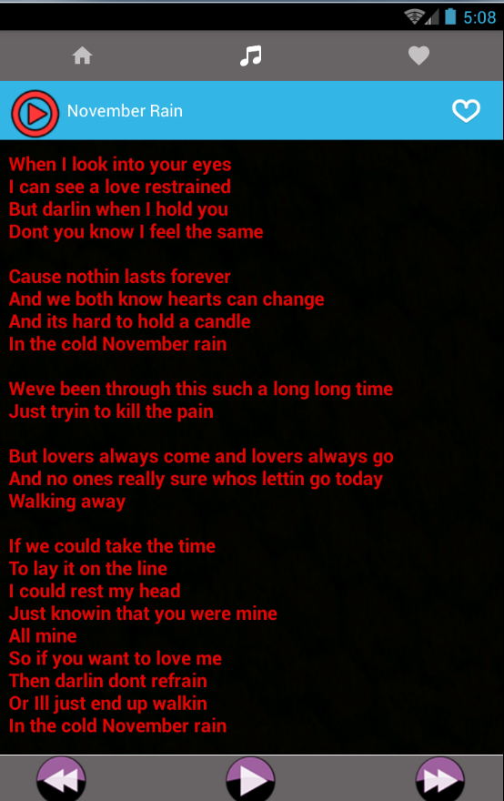 Lyric mr brownstone lyrics : All Guns N Roses Rock Songs and Lyrics - Android Apps on Google Play