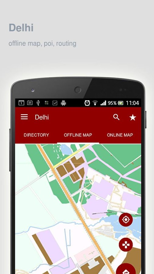 Delhi Map offline- screenshot